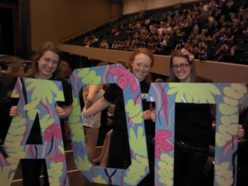 Hand-painted Lilly letters for Greek Week. TSM.