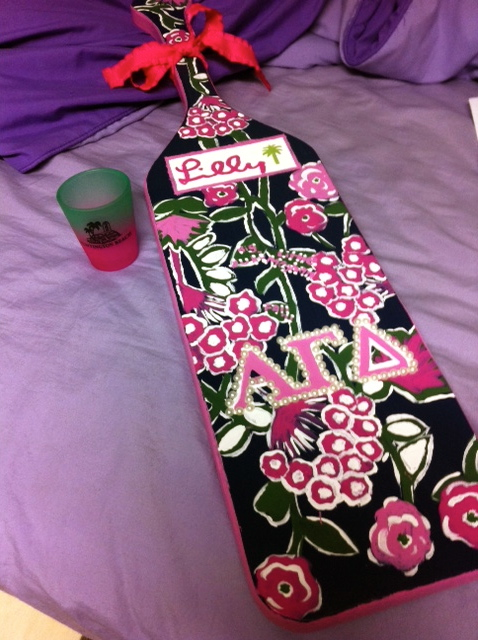 Leaving a shot glass and Lilly paddle for my Big. TSM.