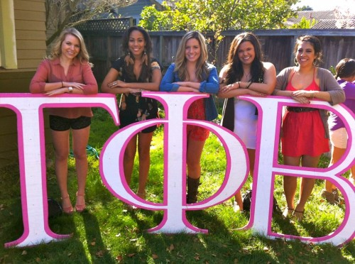 When your letters are in front of you, you know your sisters are behind you. TSM.