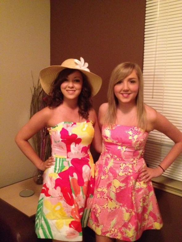 Wearing Lilly dresses to your Kentucky Derby crush party. TSM.