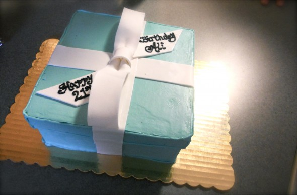 Tiffany's Box Birthday Cake. TSM.