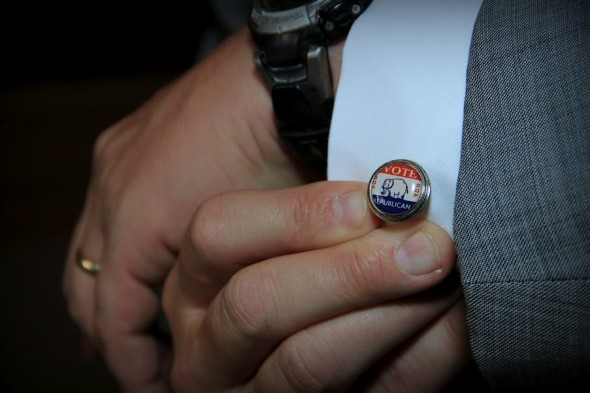 My daddy's cufflinks on my wedding day. Always representing. TSM.