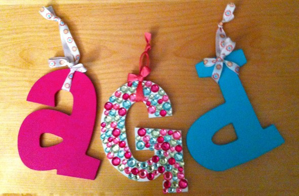 Crafting new letters for a new room. TSM.