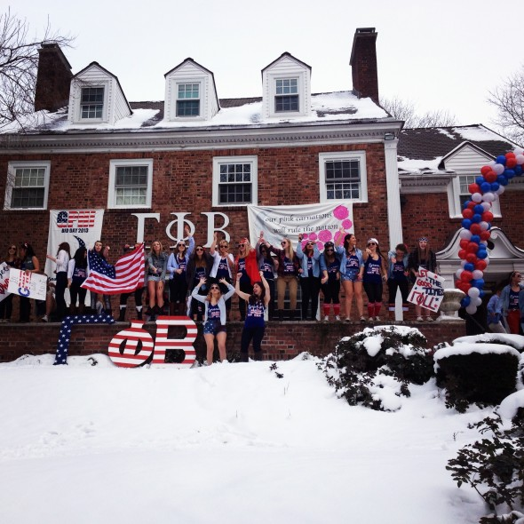 Having an America themed bid day. TSM.